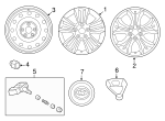 Wheel, Alloy - Hyundai (52910-A5700)