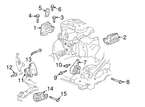 Engine/Engine & Trans Mounting for 2019 GMC Acadia #1