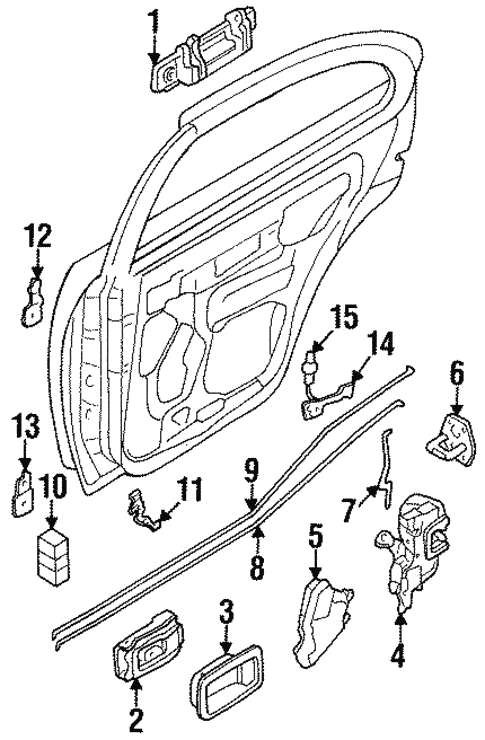 Rear Door For 1998 Nissan Sentra