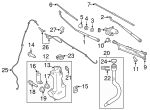 Wiper Arm - Ford (BK3Z-17526-A)