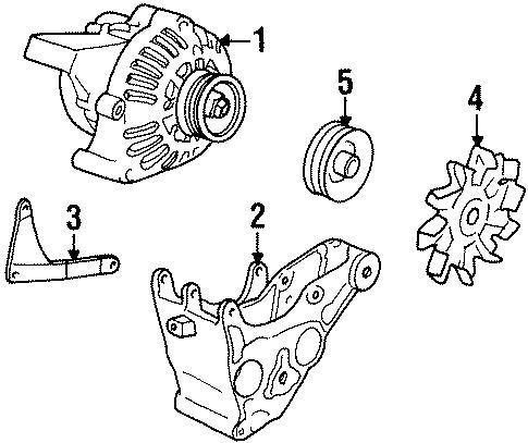 Oem 1994 Gmc Yukon Alternator Parts