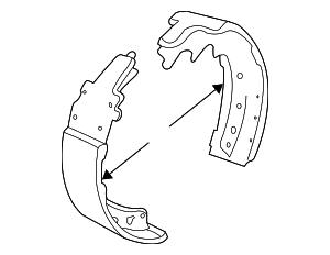 Brake Shoes - Mopar (4883833AA)