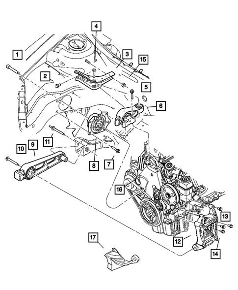 Engine Mounting for 2005 Dodge Neon | Falls Mopar City PartsFalls Mopar City Parts