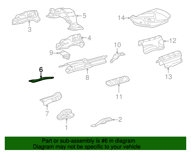 Heat shield mercedes benz 220 682 02 71 oemmercedes for Mercedes benz part numbers list