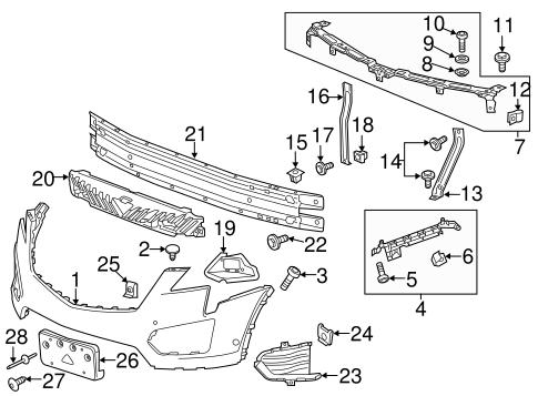 Oem 2017 Cadillac Xt5 Bumper Components