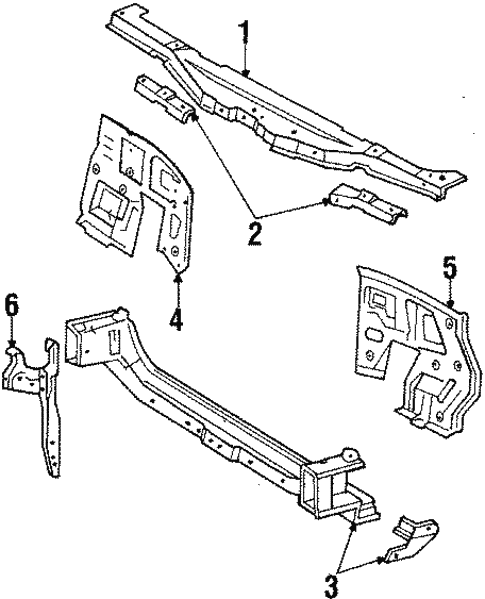 Radiator Support for 1986 Toyota Celica #0