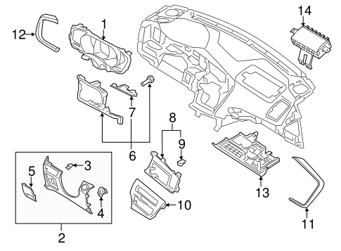 Instrument Panel Components For 2014 Kia Optima