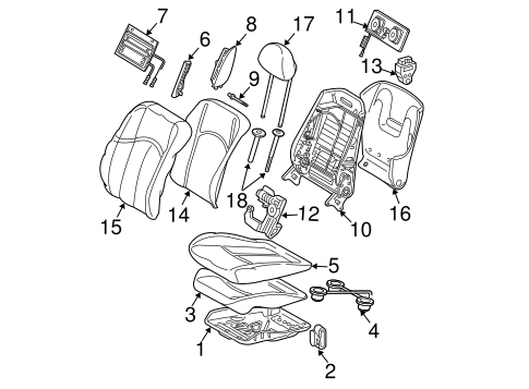 Air Bag Components for 2009 Mercedes-Benz E 320 #0