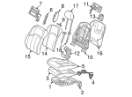 Seat Back Cover - Mercedes-Benz (211-910-29-96-8K59)