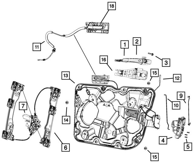 2011 2018 Dodge Durango Key Cylinder To Latch Link 55113649aa
