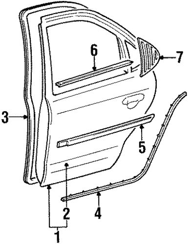 Body/Door & Components for 1997 Ford Contour #2