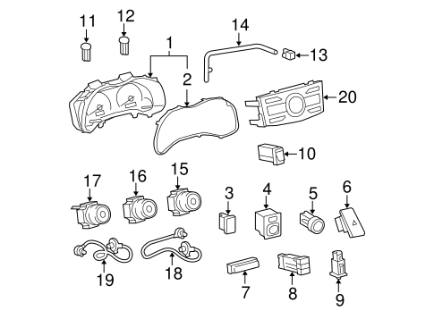 BODY/CLUSTER & SWITCHES for 2009 Toyota Corolla #1