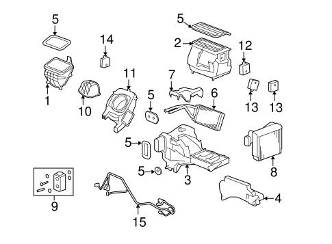 Oem 2008 Hummer H3 Condenser Compressor Lines Parts