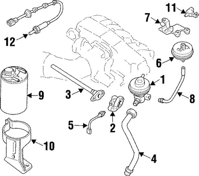 1997 2001 infiniti q45 egr valve 14710 6p100 infiniti parts online 2013 Infiniti Models egr valve infiniti 14710 6p100