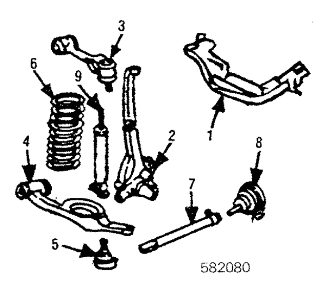 Control Arm - Mercedes-Benz (123-330-57-07)