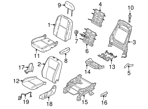 Body/Front Seat Components for 2013 Ford Transit Connect #1