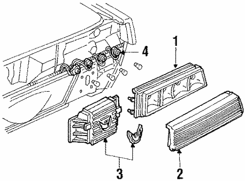 Oem 1990 Pontiac Firebird Tail Lamps Parts
