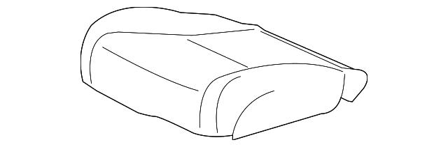 Honda Genuine 81131-SH0-A01ZB Seat Cushion Trim Cover Right Front