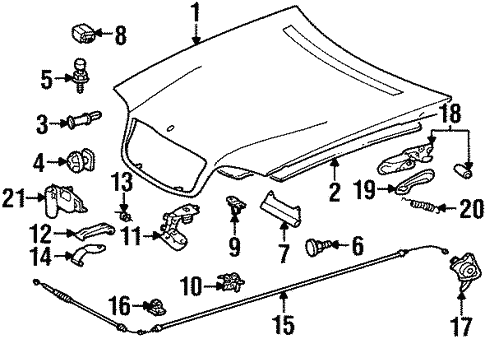Anti-Theft Components for 1998 Mercedes-Benz S 500 #1
