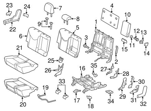 BODY/REAR SEAT COMPONENTS for 2014 Toyota Prius V #2