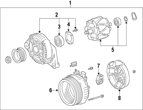 ELECTRICAL/ALTERNATOR for 2010 Toyota Matrix #2
