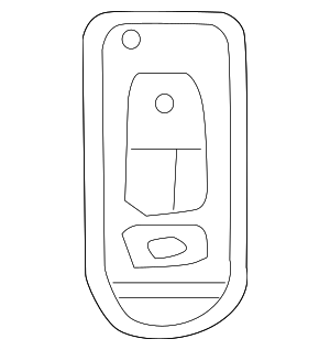 Freightliner Remote Control Key, 2 Button - Mercedes-Benz (906-760-35-06)