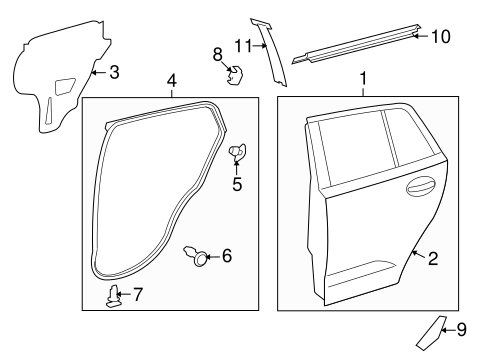 BODY/DOOR & COMPONENTS for 2010 Scion xD #1