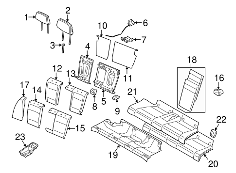 Rear Seat Components For 2011 Bmw 135i