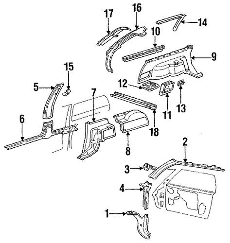 oem 1986 oldsmobile cutlass ciera interior trim parts