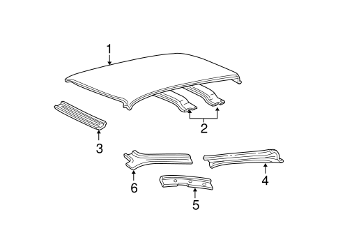 Body/Roof & Components for 2001 Ford Taurus #1