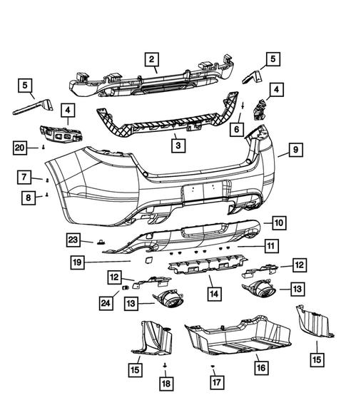 dodge parts diagram rear bumper and fascia for 2013 dodge dart thomas dodge parts  rear bumper and fascia for 2013 dodge