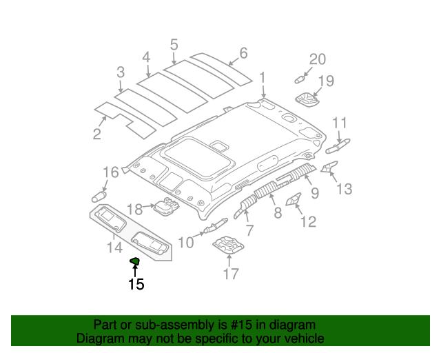 Left Genuine Hyundai 85201-2E450-J9 Sun Visor Assembly