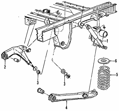 Rear Suspension for 1987 Ford Aerostar #1