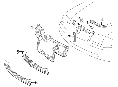 Radiator Support for 2000 Mercedes-Benz C 280 #0