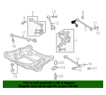 Bolt, Rear Control Arm Adjusting