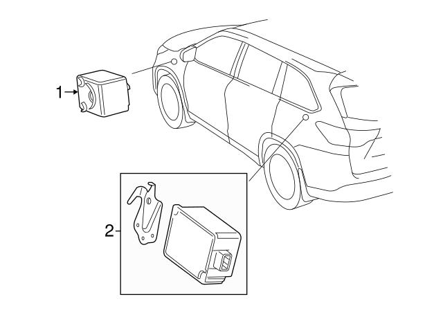 2014 2016 Toyota Highlander Receiver 897a0 0e010