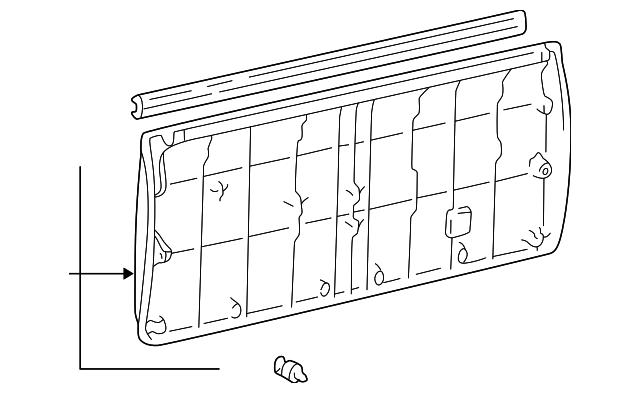1996 1998 Toyota 4runner Gate Trim Panel 64780 35010 B0