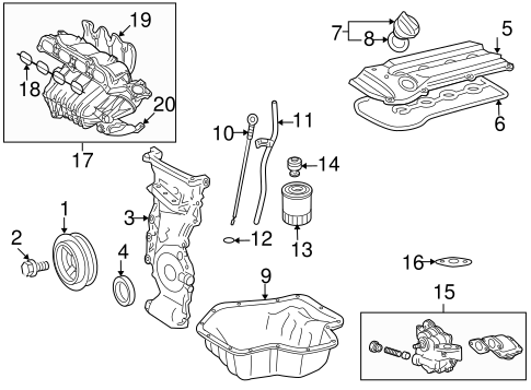 [DIAGRAM_5FD]  Genuine OEM Intake Parts for 2009 Toyota Camry Hybrid - Olathe Toyota Parts  Center | 2009 Toyota Camry Engine Diagram |  | Olathe Toyota Parts Center