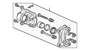Caliper Sub-Assembly, R Front (RMD) - Honda (45018-S2A-003RM)