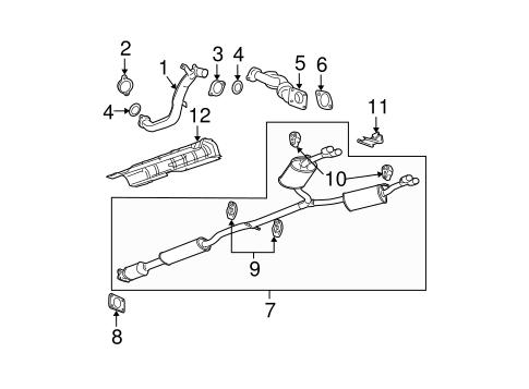 Buick Lucerne Exhaust Diagram