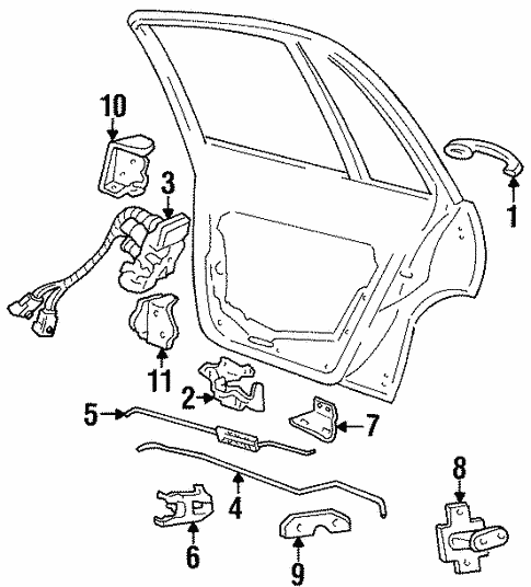 Door for 1998 Oldsmobile 88 #2