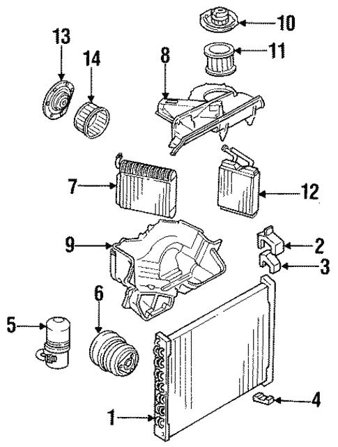 oem 1986 chevrolet el camino heater parts gm parts club 1986 Chevrolet Monte Carlo heater parts for 1986 chevrolet el camino 1