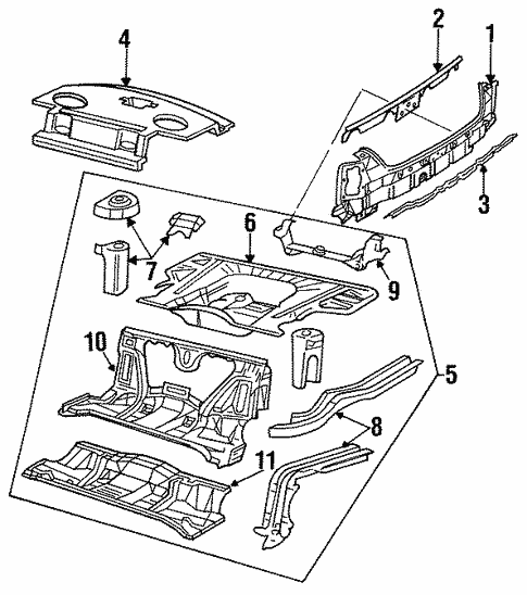 rear body for 1994 oldsmobile 98