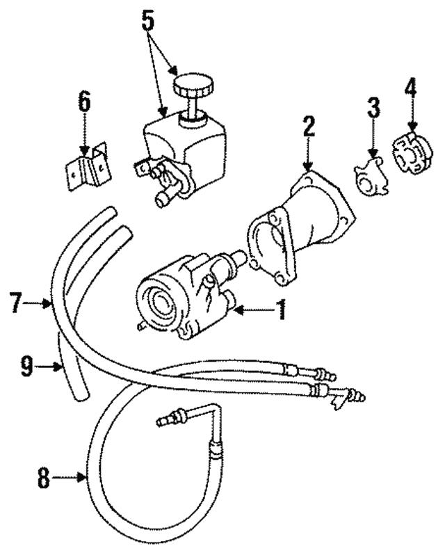 1988 1996 Jaguar Power Steering Pump Mmd8110aar