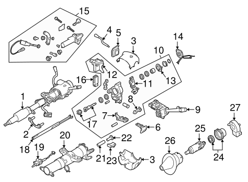 Oem 2005 Chevrolet Express 3500 Steering Column Assembly Parts