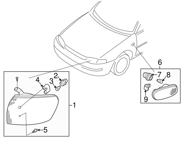 1985 2003 Subaru Bulb 784301350