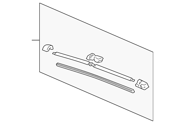 Blade, Windshield Wiper (625MM) (Passenger Side)