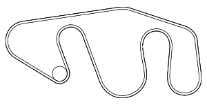 Serpentine Belt - Nissan (11720-1PD0A)