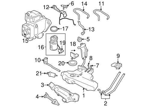 Oem Vw Fuel System Components For 2007 Volkswagen Beetle