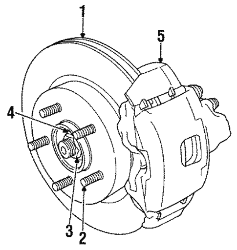 Front Brakes For 1996 Chrysler Concorde